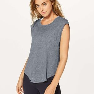 Lululemon Plank To Pike Short Sleeve Top NWT Gray